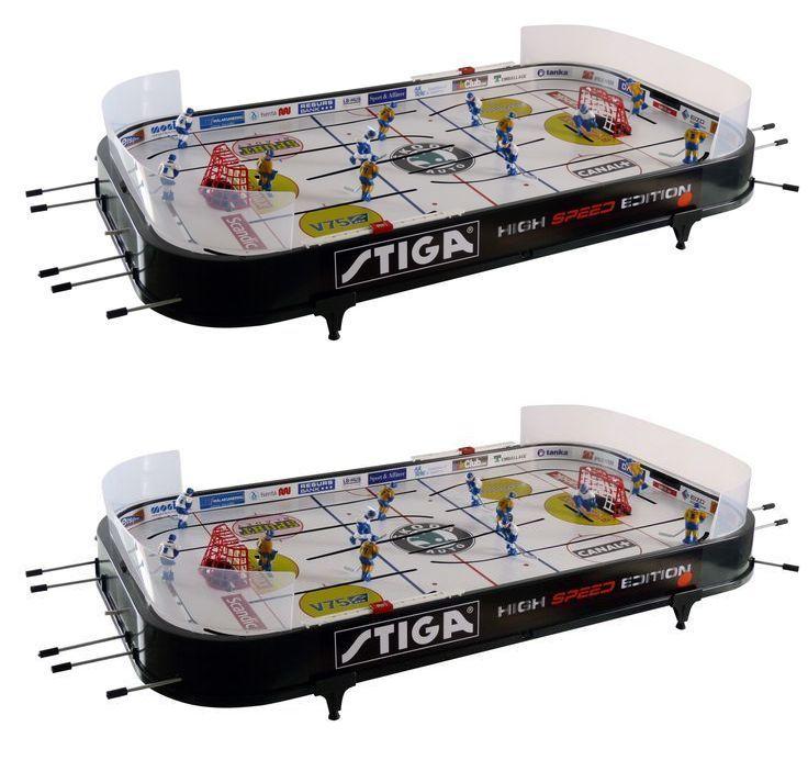 Air Hockey 36275: Stiga Ice Hockey Table Top High Speed Kids Portable Game  Room Play