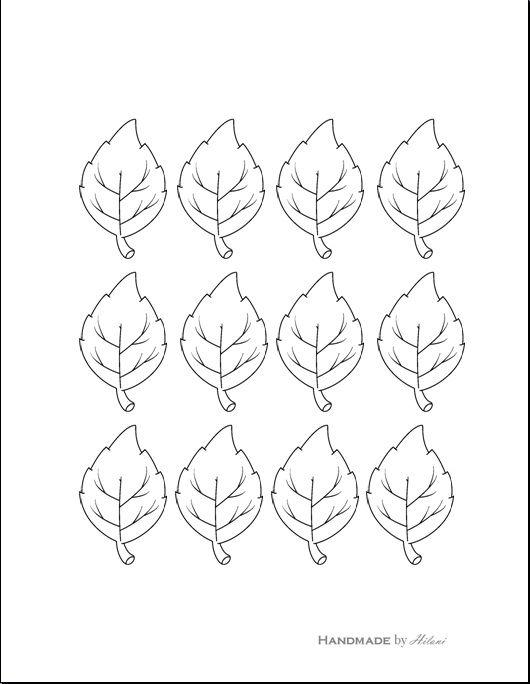 Handmade by Hilani Thankful Leaves Printable A - SEASON - leaf template