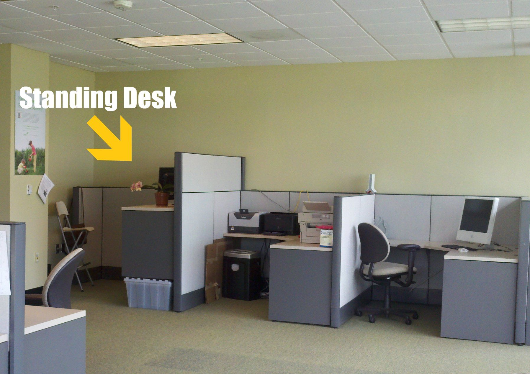 Stand up desk cubicle desk wall art ideas check more at for Standing desk at home