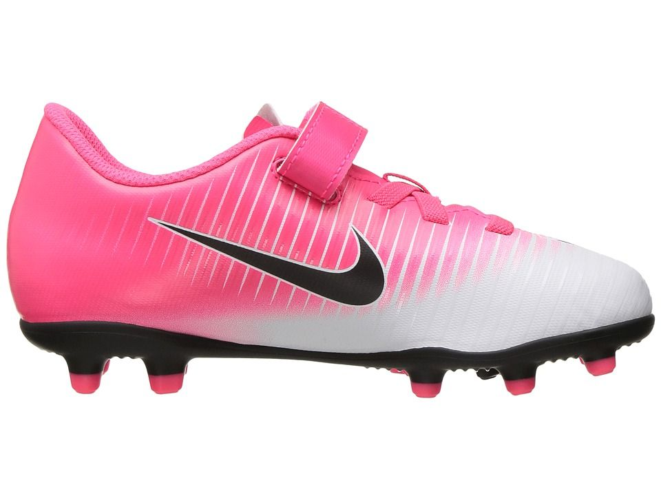 bf832abe5 Nike Kids Jr Mercurial Vortex III (V) FG Soccer (Toddler/Little Kid) Kids Shoes  Racer Pink/Black/White