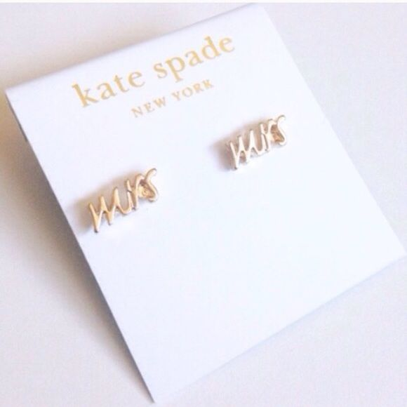Black Friday Kate Spade Mrs Earrings In Gold New And Perfect For The Bride To Be Jewelry