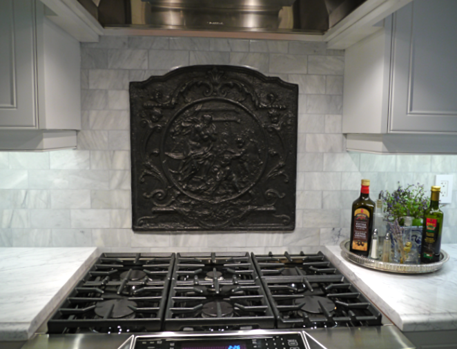 U0027Winteru0027   The Fireback At Cardinal House Kitchen Early In The Design  Process Of