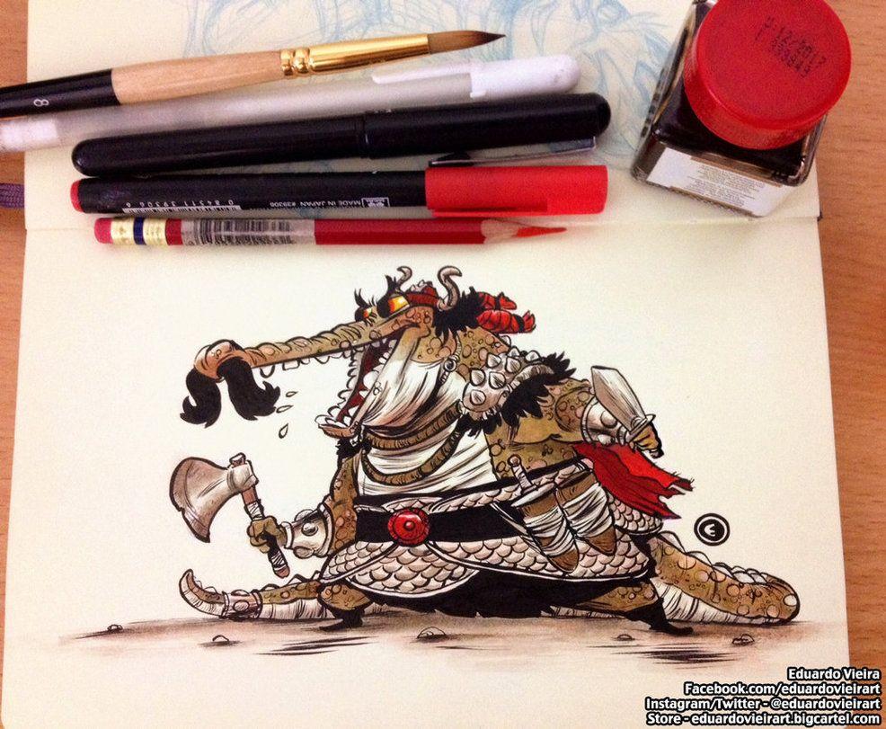Viking Croc by eduardovieira on DeviantArt | 2D | Pinterest | Anatomía