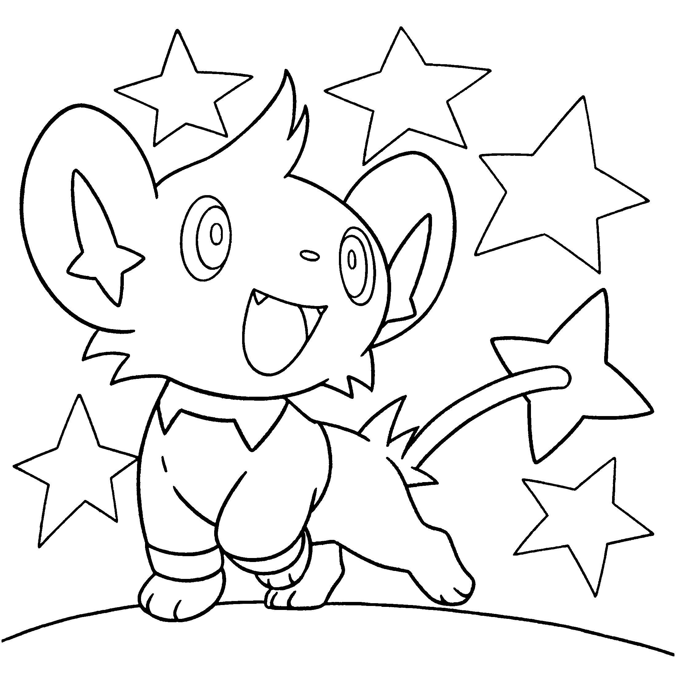 pokemon coloring pages shinx nicknames | Pokemon diamond pearl coloring pages | Pokemon coloring ...