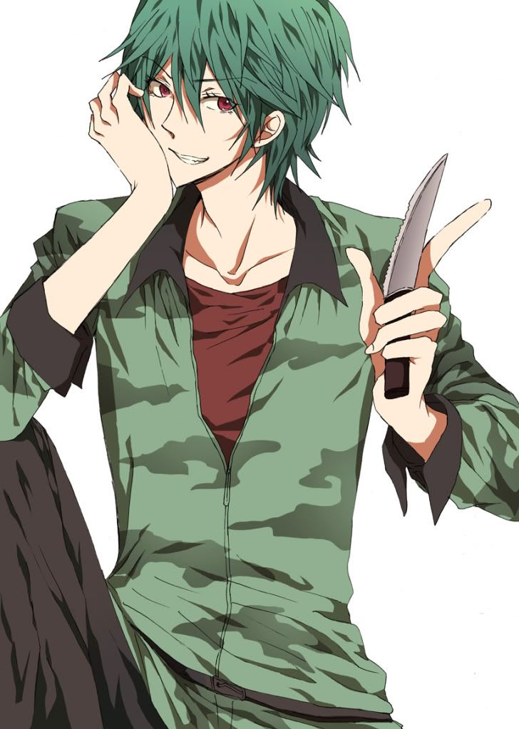 Boy With Green Hair Anime - The Best Undercut Ponytail