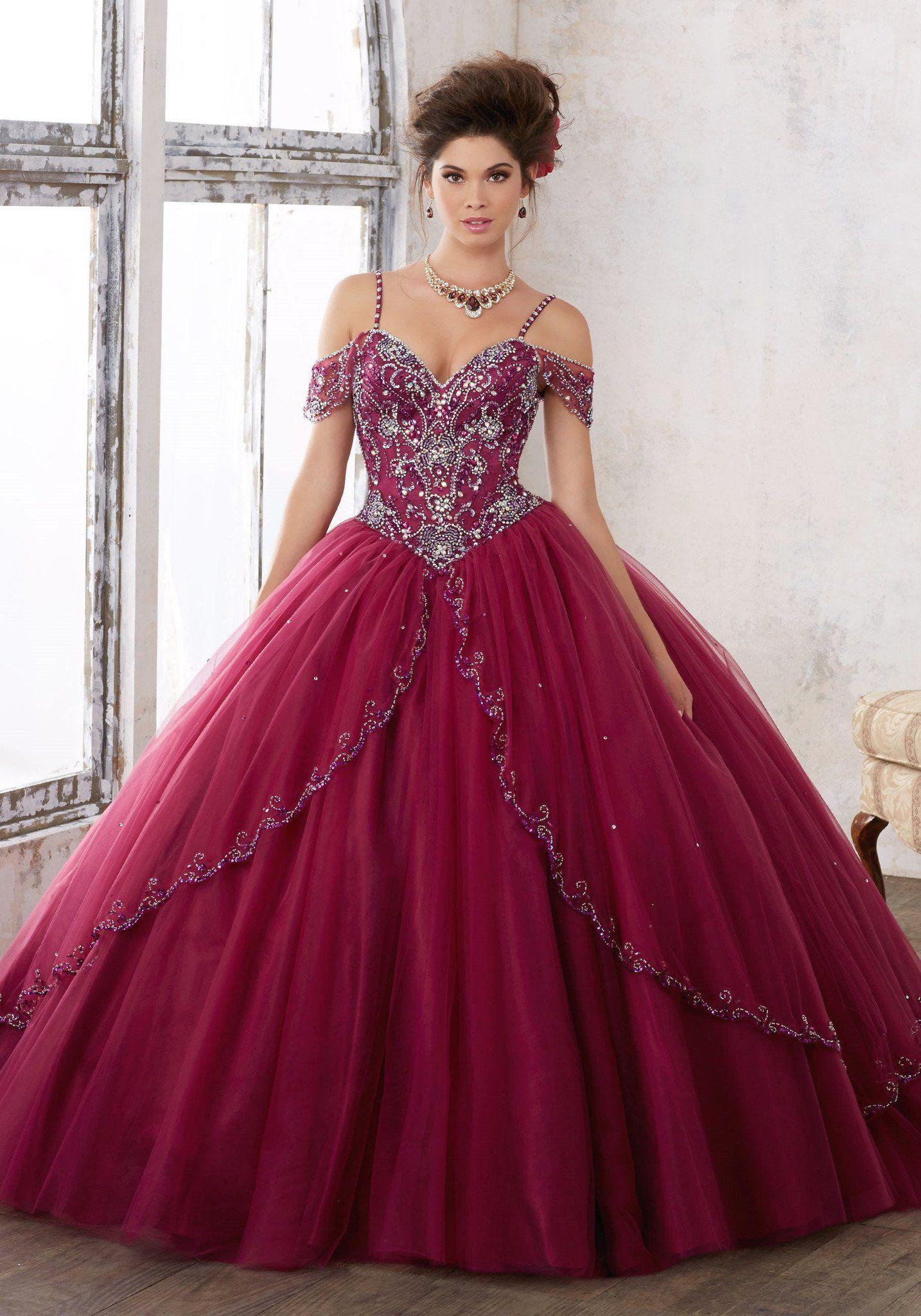 00d1071120 Beaded Off Shoulder Quinceanera Dress by Mori Lee Vizcaya 89135 ...