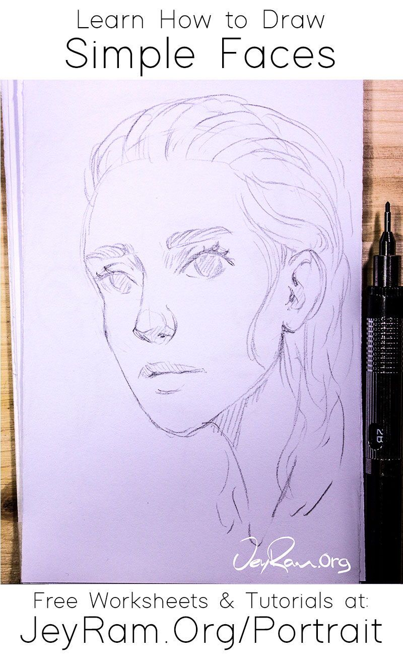 How To Draw Simple Faces In 2020 Art Drawings Sketches Simple Pencil Art For Beginners Drawings