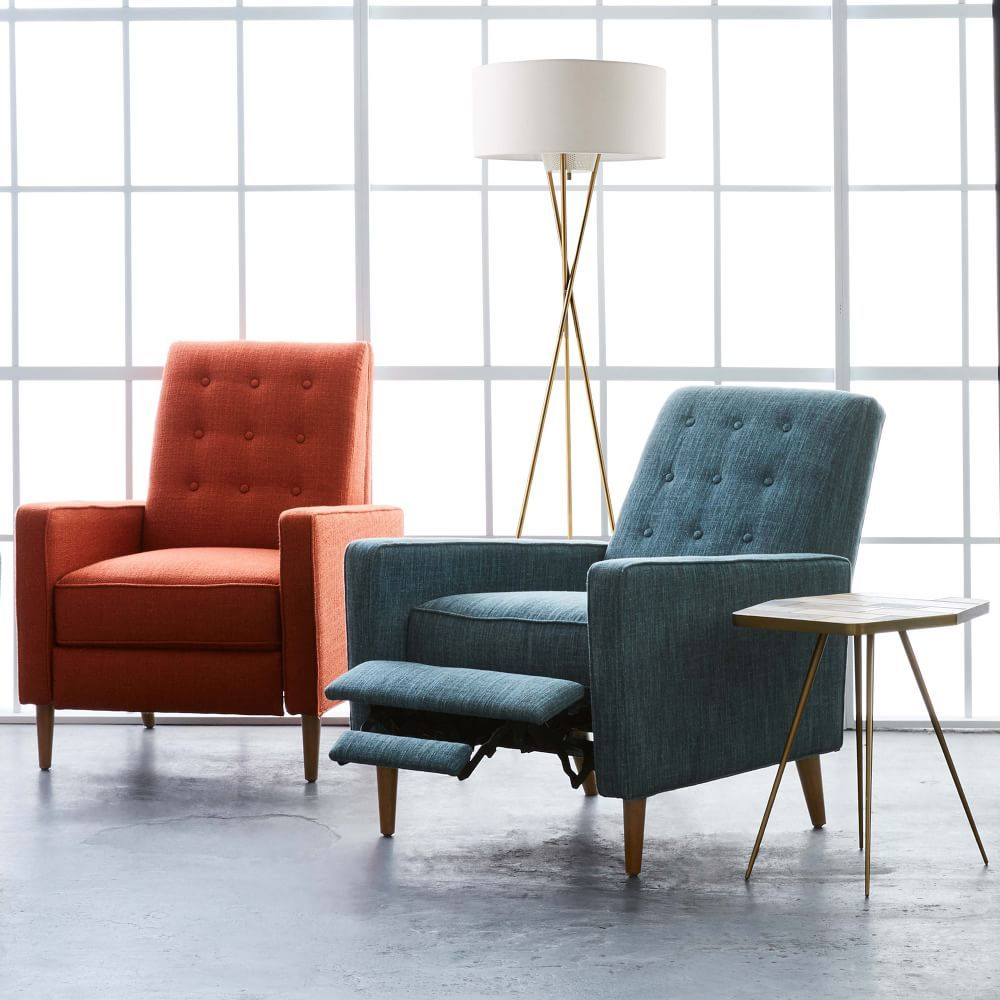 Rhys Mid Century Recliner Living Room Chairs Modern