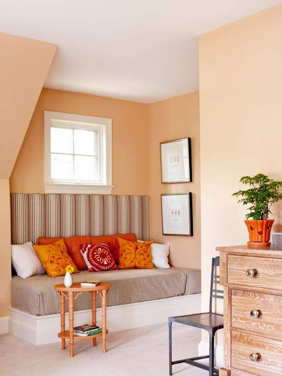 Decorating With Color Expert Tips Small Bedroom Decor Living Room Orange Wall Decor Living Room #red #and #orange #living #room