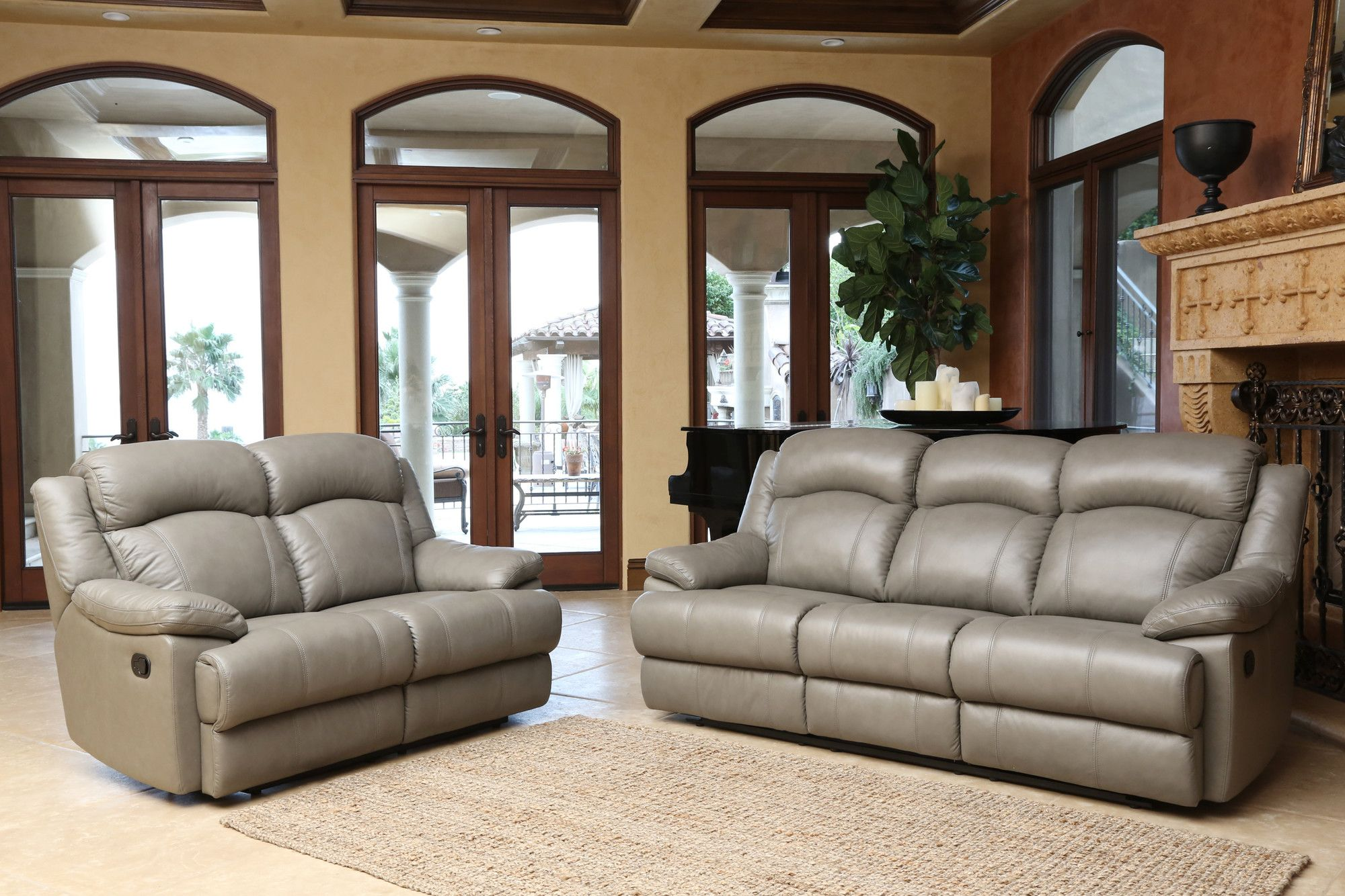 Cuyler Leather Sofa and Loveseat Set Products