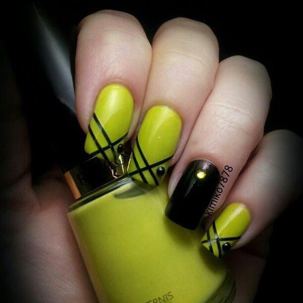 Black and Yellow Nail Polish | Hair & Nails | Pinterest
