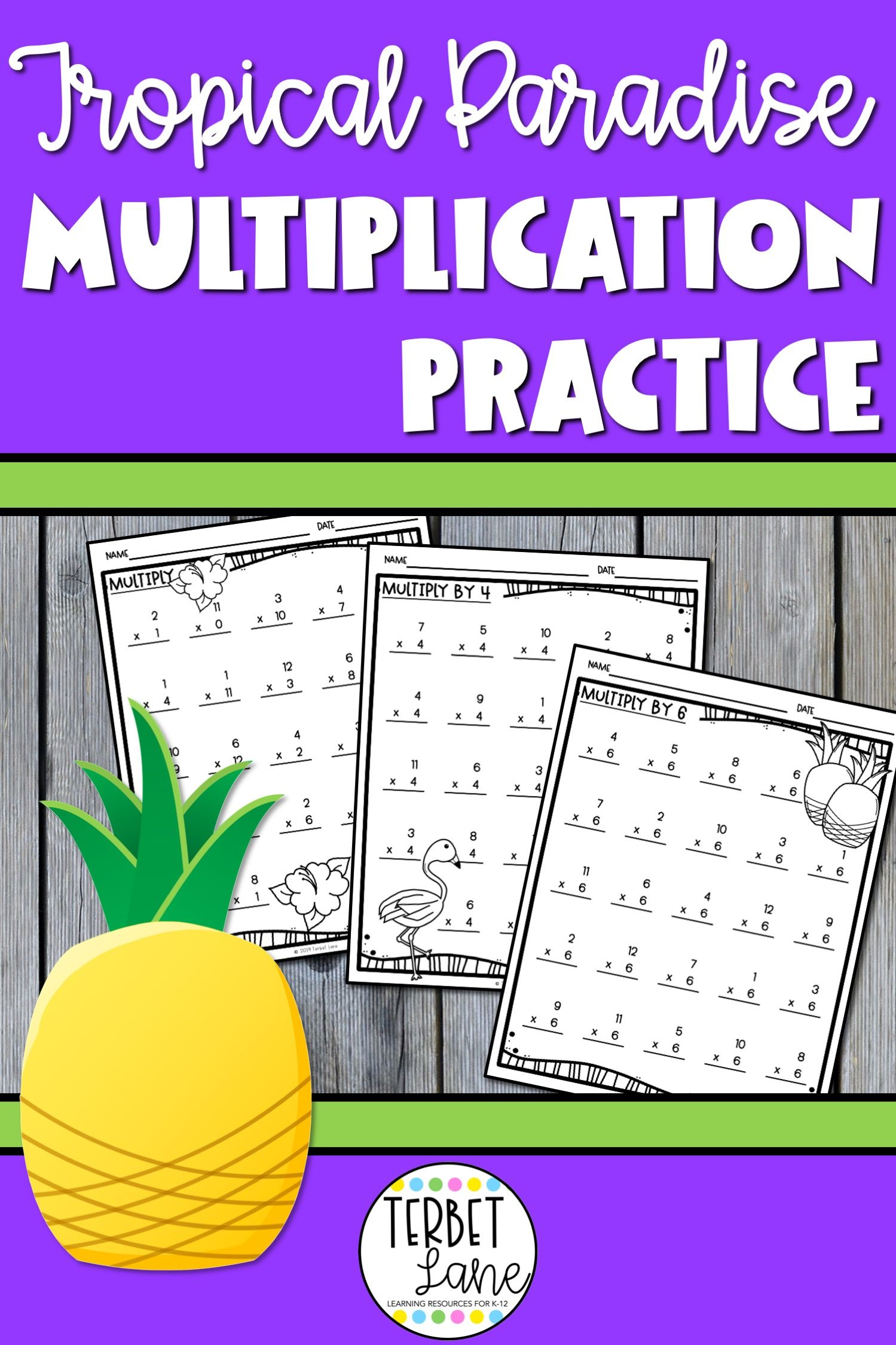 Tropical Paradise Multiplication Worksheets With Images
