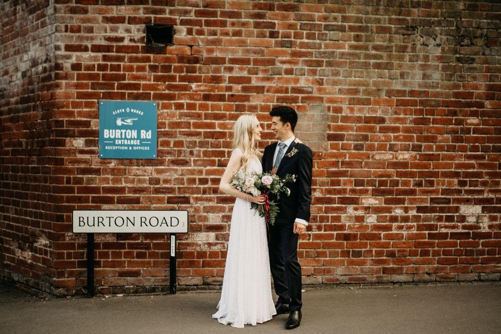 Industrial Wedding At 92 Burton Road Sheffield With Bride In Vera Wang Industrial Wedding Wedding Bride