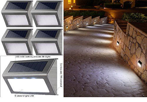 Solar Outdoor Step Lights Great new solar outdoor step lights best white led waterproof lamp great new solar outdoor step lights best white led waterproof lamp for stairs garden patio workwithnaturefo