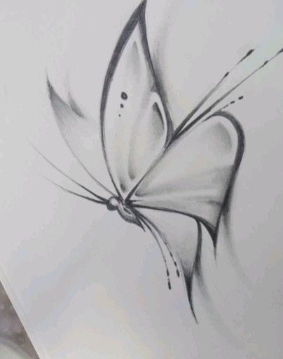 Butterfly Sketch How to draw a butterfly