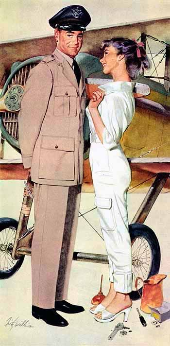 Frizt Willis artist | Pin-Up girl | American girls #PinUps #Vintage #Posters #deFharo #USA #Girls #Magazine #Covers #Retro #Illustration #40s #50s #60s
