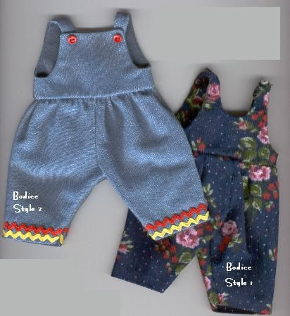 Girls Handmade Denim Overalls Jeans Set Fits 11 inch Girl Doll Clothes New