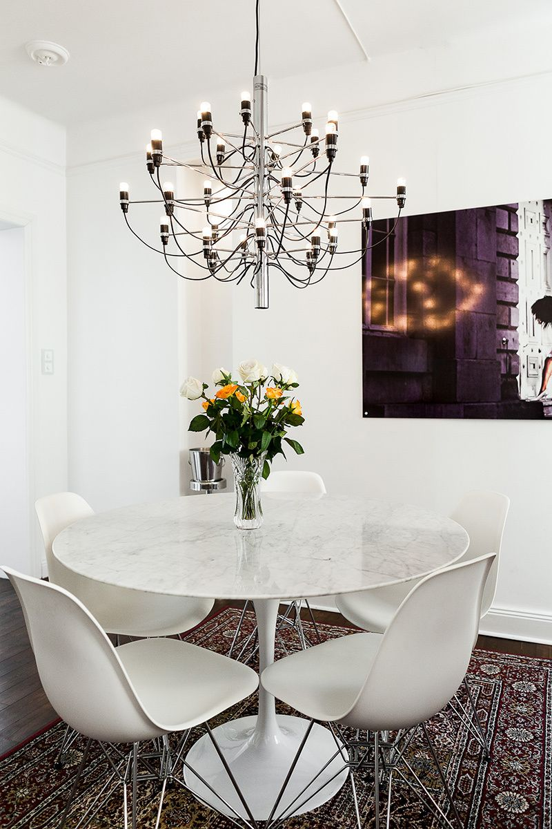 2097 Contemporary Mid Century Chandelier By Gino Sarfatti