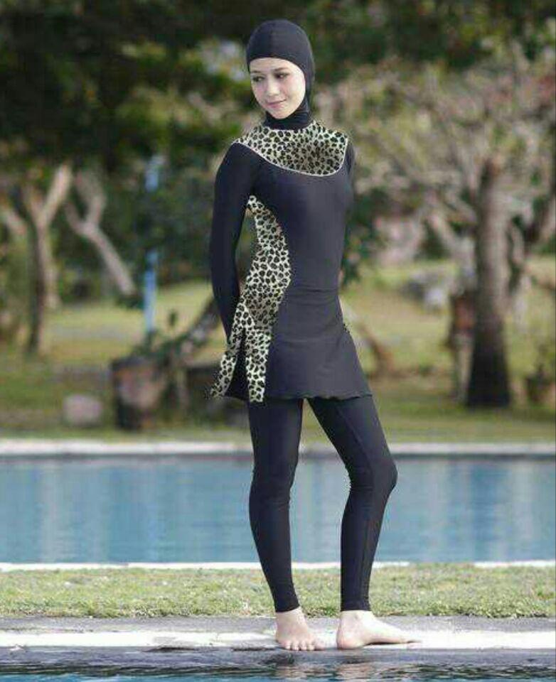 c4dfd5eda2f07 Discounts Modest Muslim Swimwear Islamic Swimsuit For Women hijab swimwear  full coverage swimwear muslim swimming beachwear swim suit  cua97pqn  Black  ...