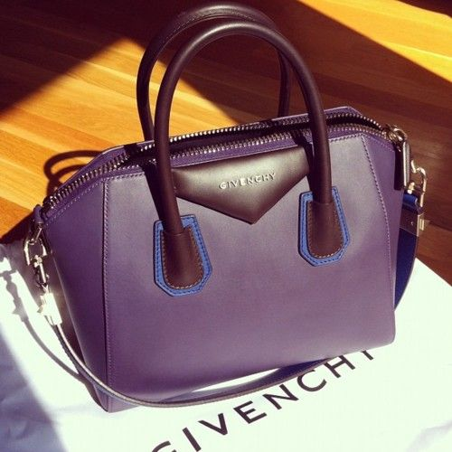 purple leather Givenchy boston