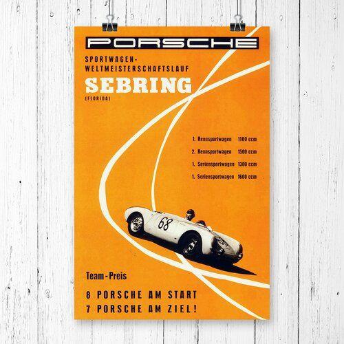 East Urban Home Vintage Porsche Classic Car Vintage Advertisement | Wayfair.co.uk