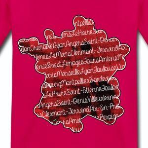 T shirt rubis enfant Villes française et carte de la France  - T-shirt Premium Enfant
