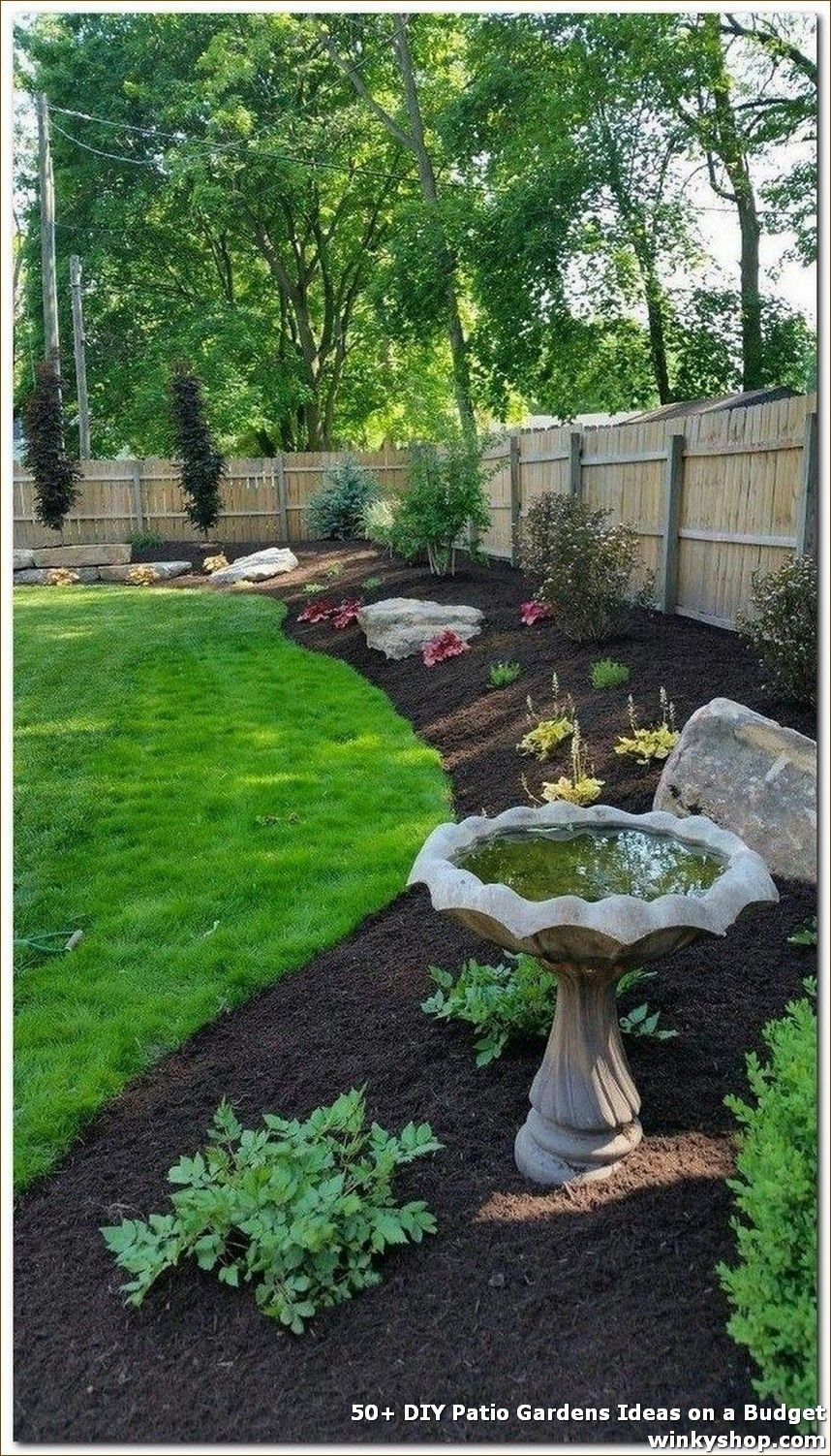 50 Diy Patio Gardens Ideas On A Budget Full The Look With Some Good Furnishings And Also You In 2020 Backyard Landscaping Designs Backyard Garden Landscape Design