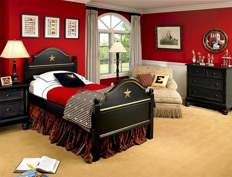 fiery and fascinating 25 kids bedrooms wrapped in shades of red - Traditional Kids Room Interior