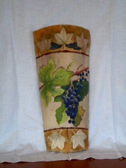 Tejas pintadas a mano decorativas buscar con google - Pintura para tejas ...