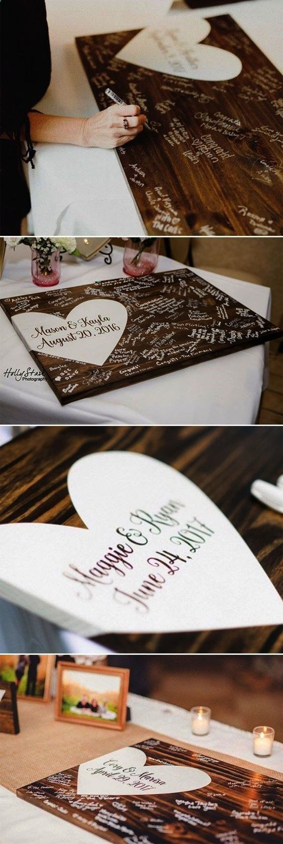 32 Ingenious Philly Wedding Ideas You Ll Wish You Had Thought Of More Small We Wooden Wedding Guest Book Creative Wedding Guest Books Wood Guest Book Wedding