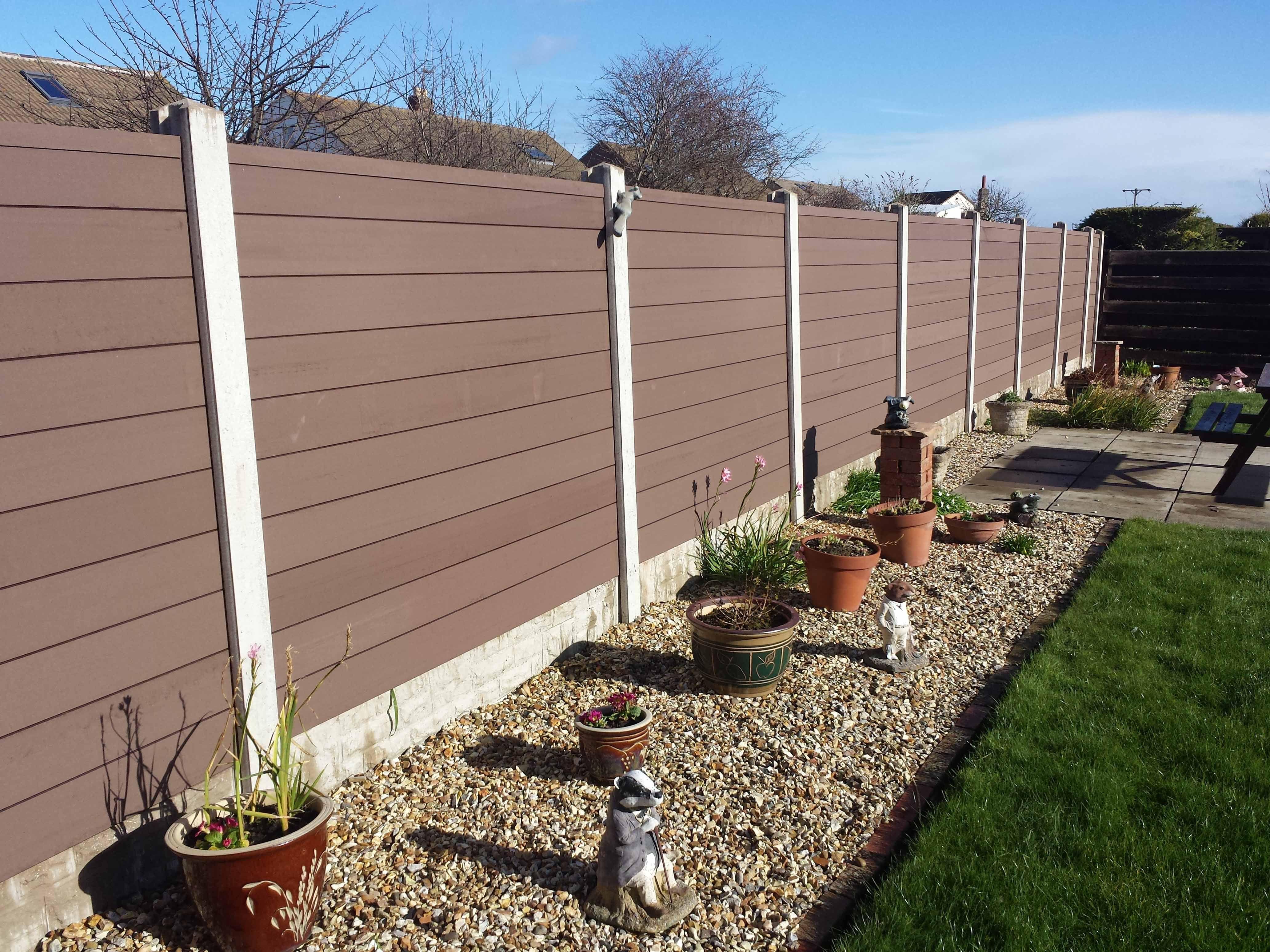 Composite Decking Panels : Composite decking fence ft high wood panels