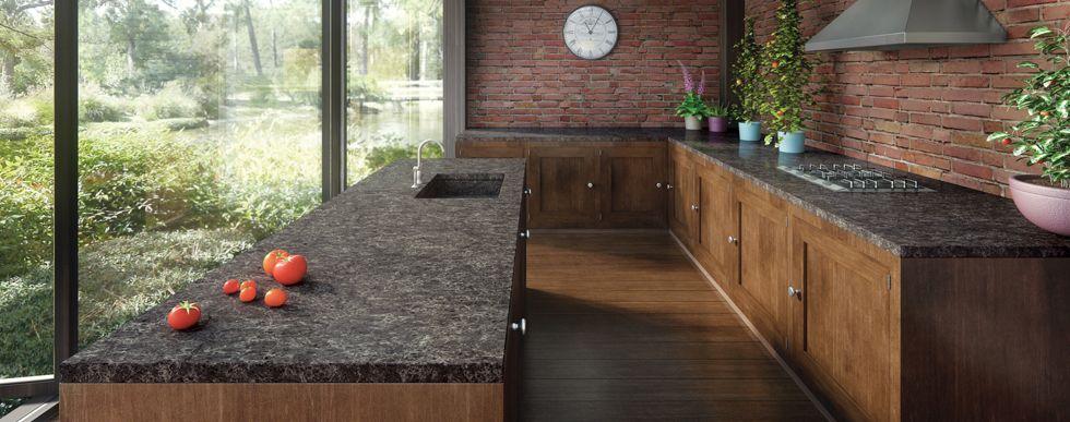 Best 6003 Coastal Grey Countertop Wood Cabinets Brick 400 x 300