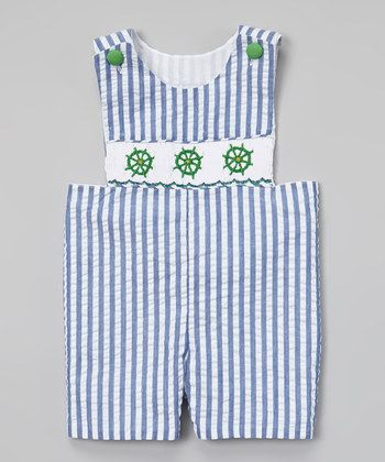 Red Anchor Smocked John Johns - Infant & Toddler | Daily deals for moms, babies and kids