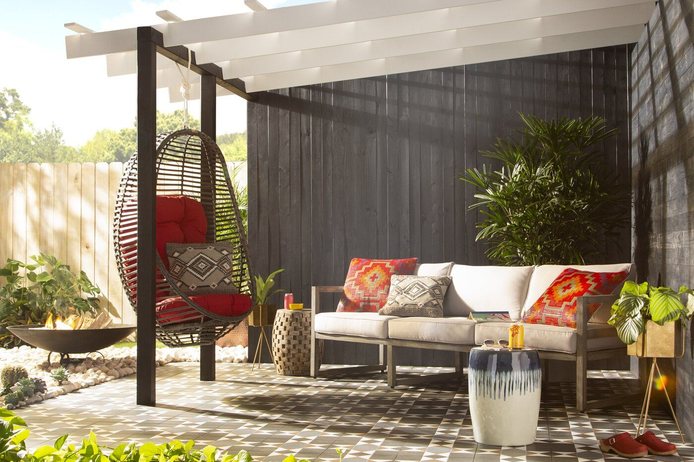 Enjoyable Swing Chair Backyard In 2019 Swinging Chair Outdoor Onthecornerstone Fun Painted Chair Ideas Images Onthecornerstoneorg