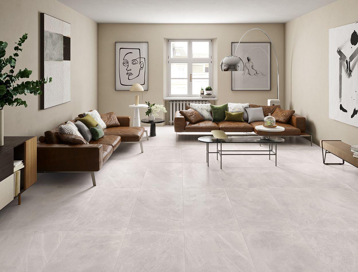 Emc Tiles Gentle Stone Floor And Wall Tile Ascot Tiles Large Floor Tiles Floor Tile Design Stone Flooring #stone #flooring #living #room
