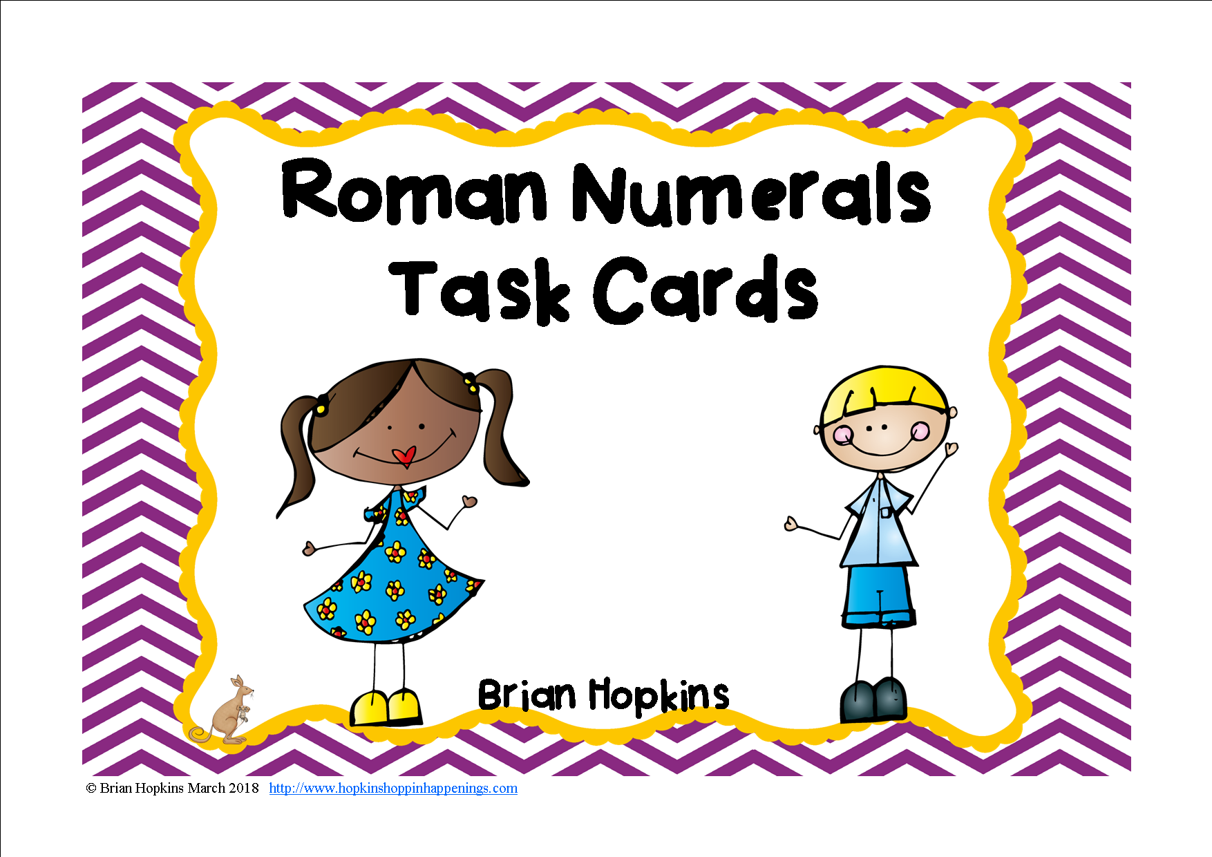 Roman Numerals Task Cards