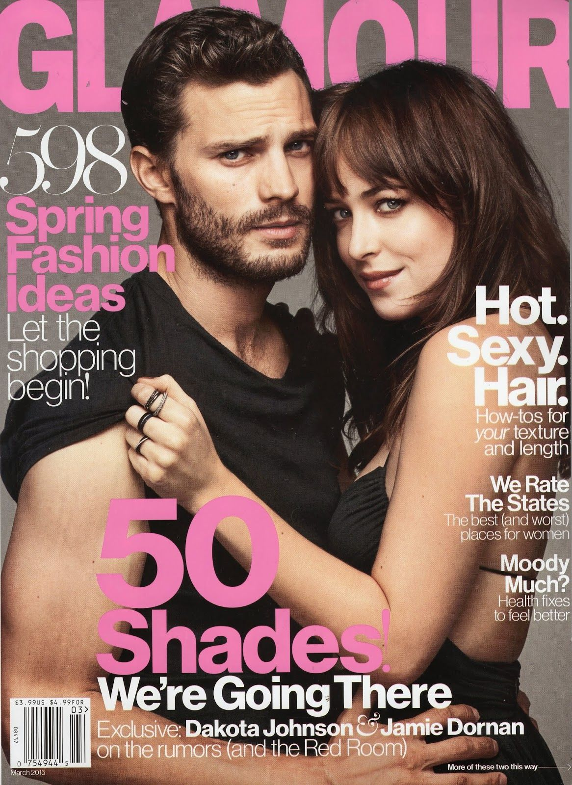 Jamie Dornan and Dakota Glamour Magazine