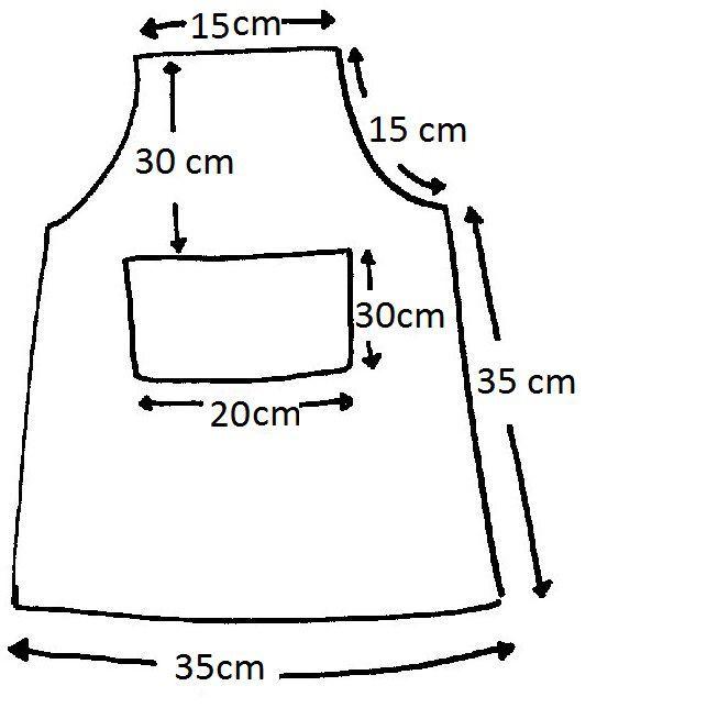 Como hacer un delantal de cocina para ni os todo for Como hacer cortinas para cocina