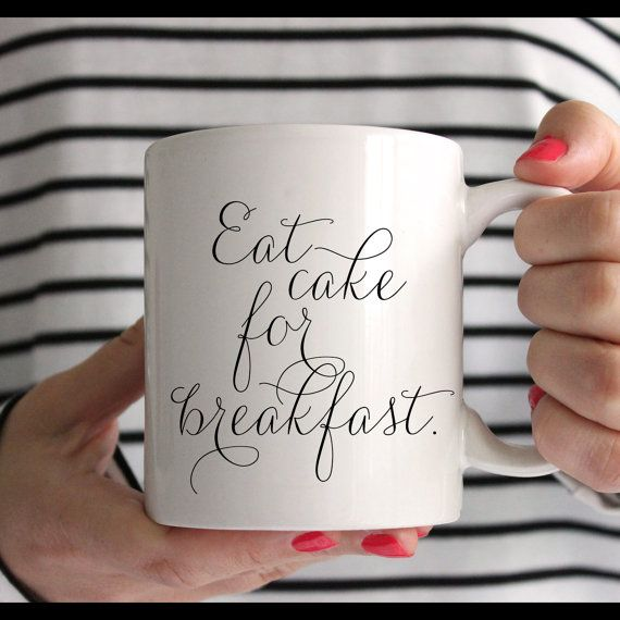 PREORDER // Eat Cake For Breakfast Mug // In Stock by sweetpeaink