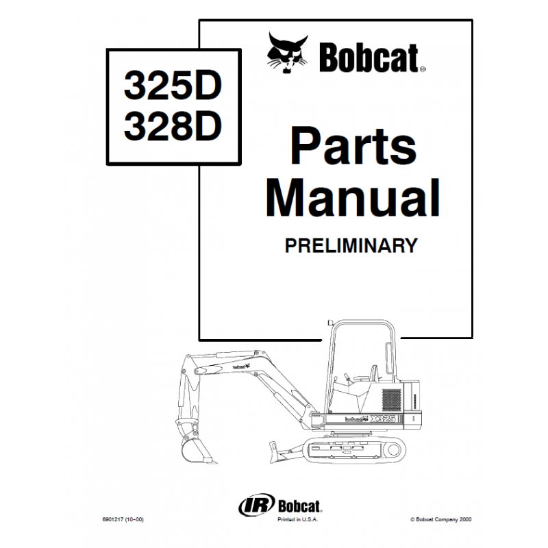 Bobcat 325D, 328D Excavator Parts Manual Preliminary PDF