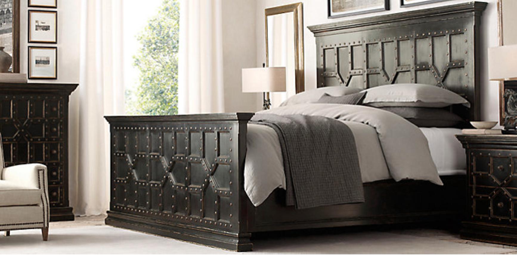 Restoration Hardware 17TH C. Castello Bed shown in