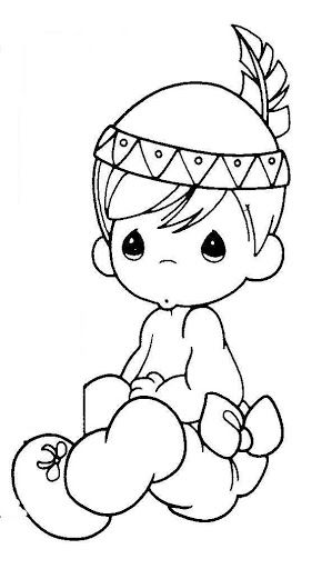 Pattern Little Indian Precious Moments Coloring Pages Coloring