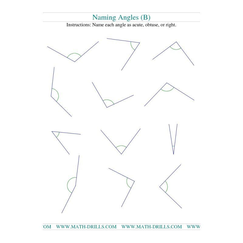 Geometry Worksheet Finding Angle Measurements B – Finding Angle Measures Worksheet