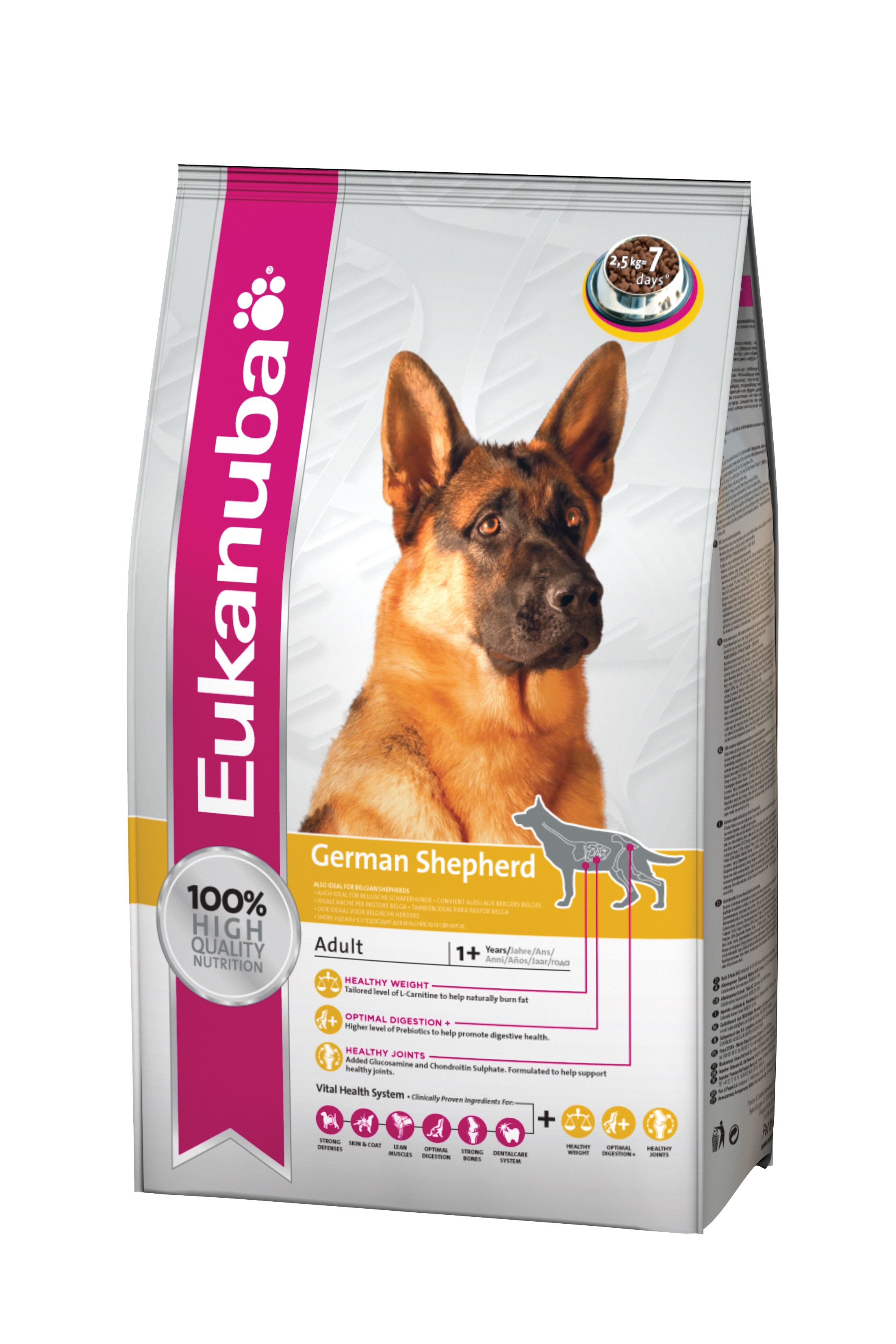 Eukanuba Dog Food Adult German Shepherd 2 5 Kg Dog Food Recipes