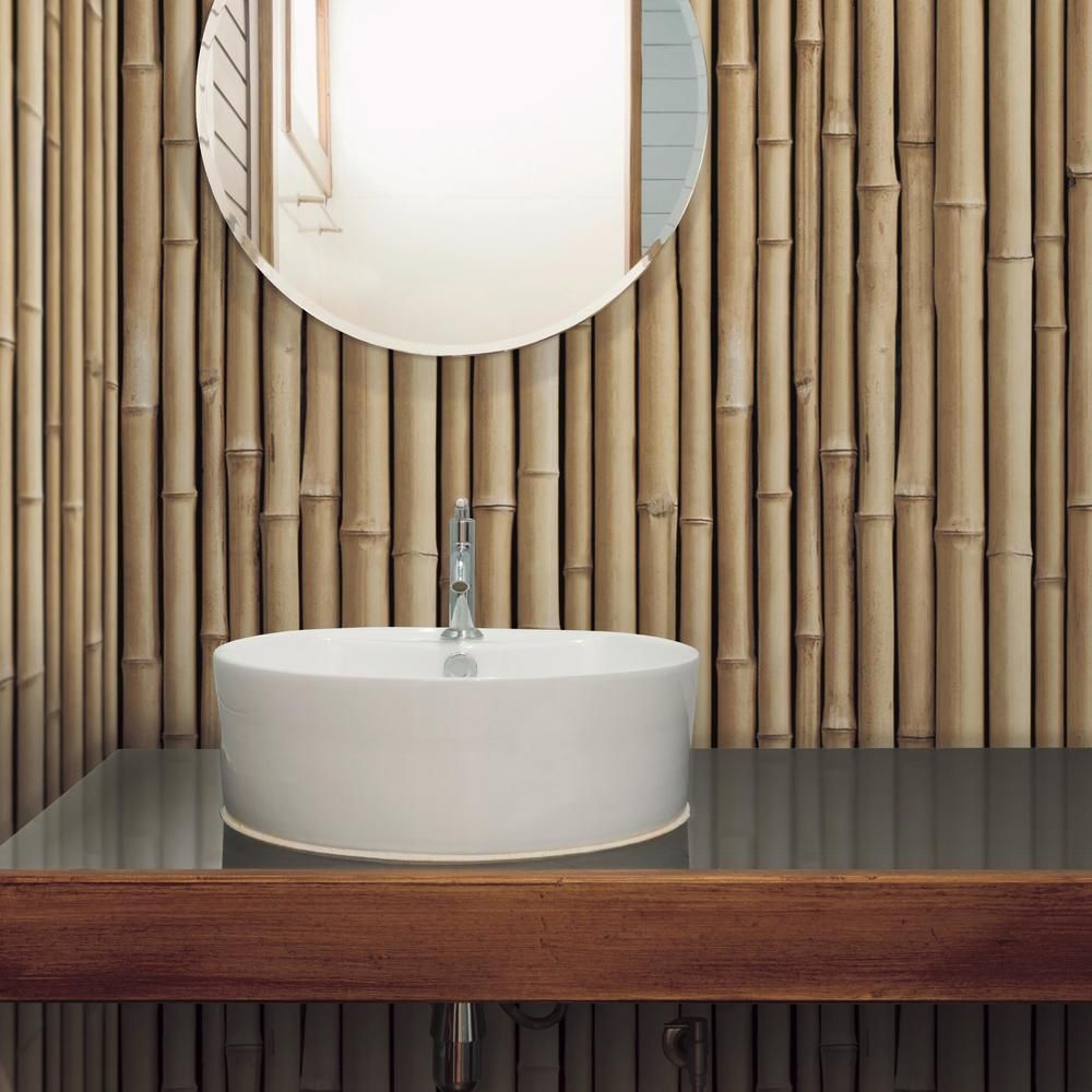 Bamboo Peel And Stick Wallpaper In 2021 Bamboo Decor Bamboo Bathroom Bamboo Design
