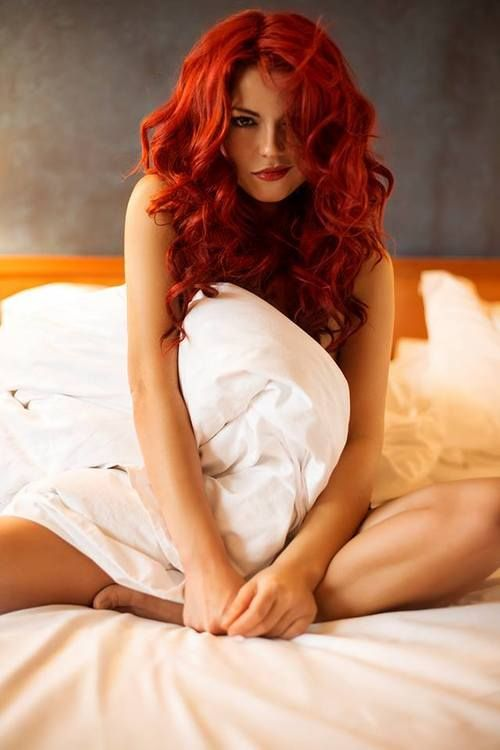 Redhead in the bed let's