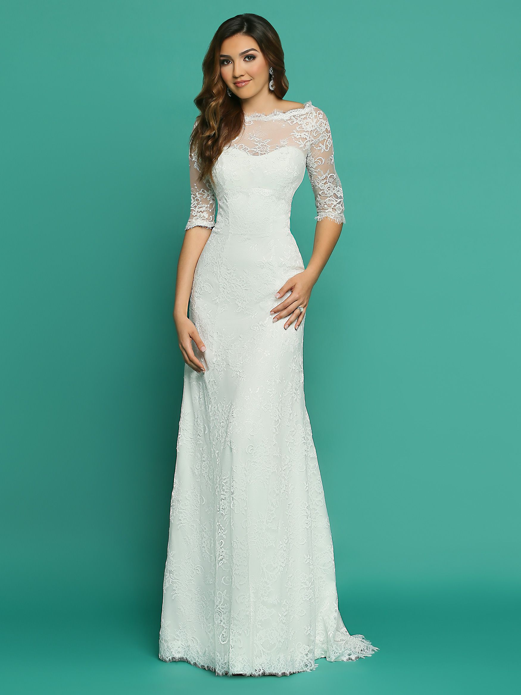 This gorgeous head to toe lace wedding dress combines three ...
