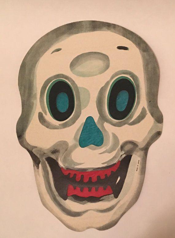 Large Vintage Halloween Skull Diecut