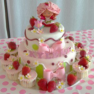Outstanding Free Cake Decorating Ideas Strawberry Shortcake Birthday Party Funny Birthday Cards Online Amentibdeldamsfinfo