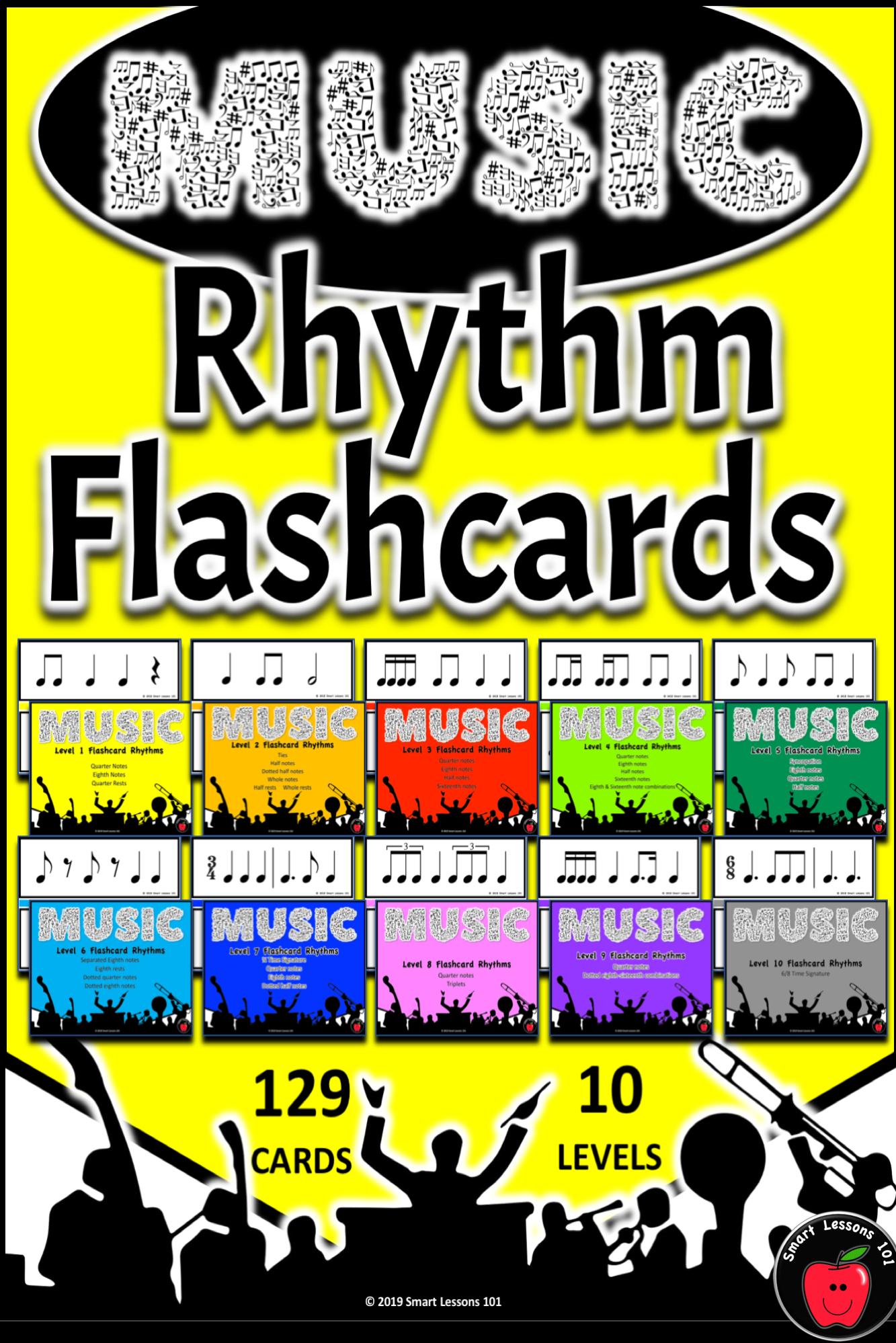 Rhythm Flashcards Music Rhythm Flashcards Rhythm